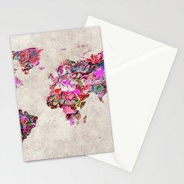 World Map 47 Stationery Cards