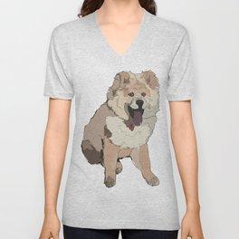 Chow Chow Dog Unisex V-Neck