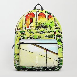 Istituto Emiliani: garden of the cloister of the convent Backpack