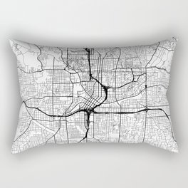 Atlanta Map White Rectangular Pillow