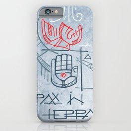 Religious christian symbols and phrase iPhone Case