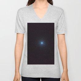 Sirius Brightest star on Night sky, Sirius Star Unisex V-Neck