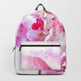 HORSE PINK FANTASY CHERRY BLOSSOMS Backpack