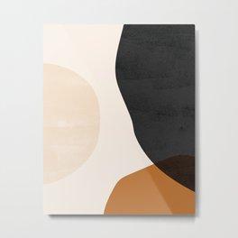 Earth Tone Shapes Metal Print