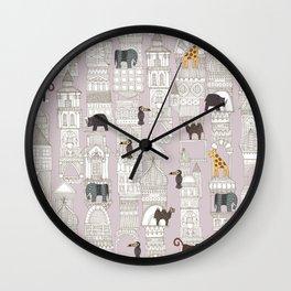urban jungle blush pink Wall Clock