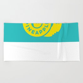 PineappleStaircase | Official Logocolor 2015 in Turquoise/Yellow Beach Towel