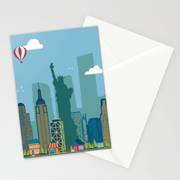 New York Cityscape Illustration Stationery Cards