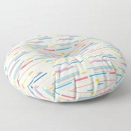 Morse Code Pastel Pattern Floor Pillow
