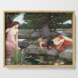 John William Waterhouse - Echo and Narcissus Serving Tray