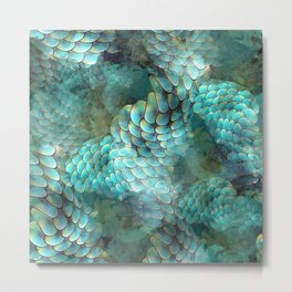 Mermaid Scales Metal Print