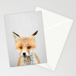 Baby Fox - Colorful Stationery Cards