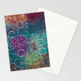 Digital Inky Doodle Abstract No. 2 Stationery Cards
