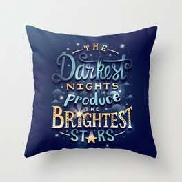 Brightest Stars Throw Pillow