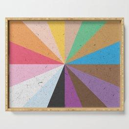 Rainbow Wheel of Inclusivity Serving Tray