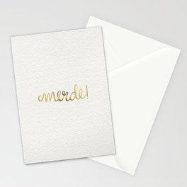 Pardon My French – Gold Ink Stationery Cards