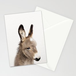 Baby Donkey, Baby Animals Art Print By Synplus Stationery Cards