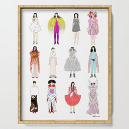 Outfits of Bjork Fashion Serving Tray