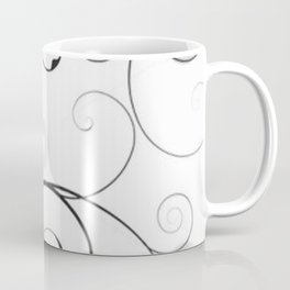 Black and Gray Swirls and Circles Coffee Mug