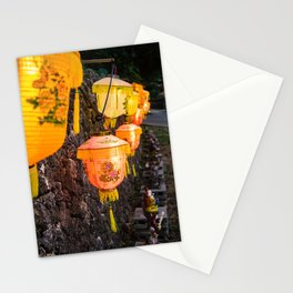 Lanterns in Okinawa Stationery Cards