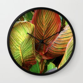 Sultry, Sexy Exotic Tropicana Leaves Wall Clock