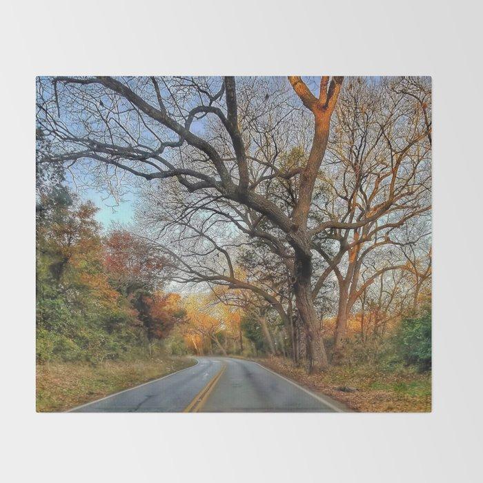 Hairy Man Road - Brushy Creek- Round Rock, Texas Throw Blanket