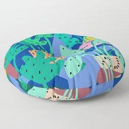 River Plants 1 Floor Pillow