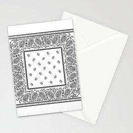 Classic White Bandana Stationery Cards