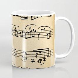 Antique Music Notes Coffee Mug
