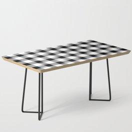 Buffalo Check - black / white Coffee Table