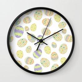 Pastel Easter Eggs II Wall Clock