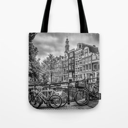AMSTERDAM Flower Canal black & white Tote Bag