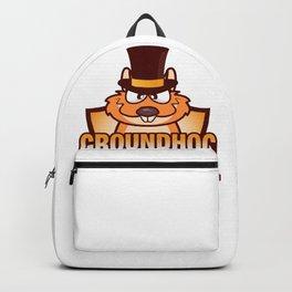 Happy Groundhog Day design Awesome Cute Groundhog design Backpack