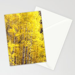 Yellow Grove of Aspens Stationery Cards