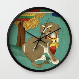 Minhwa: Dog D Type  Wall Clock