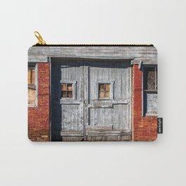 In the Door Series, wooden weather beaten textured doors Carry-All Pouch