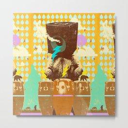 BEAR BEATS Metal Print