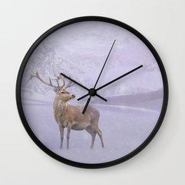 Winter Story Wall Clock