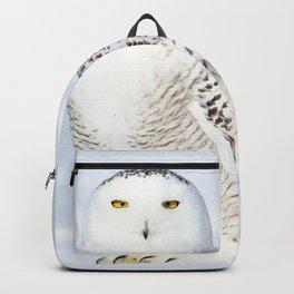 Snowy owl goddess Backpack