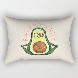 Find Your Center Avocado Yoga Rectangular Pillow