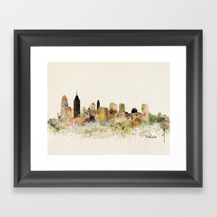 philadelphia pennsylvania skyline Gerahmter Kunstdruck