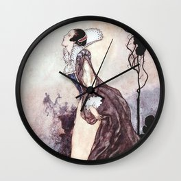 """""""Some Glory In Their Birth"""" Fairy Art by Charles Robinson Wall Clock"""