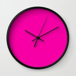 Simply Solid - Fashion Fuchsia Wall Clock