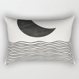 Modern Night, Moon by the Waves Rectangular Pillow