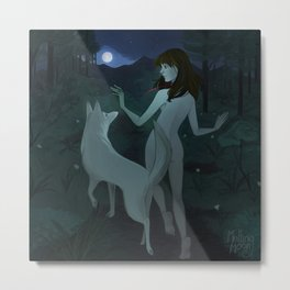 Wolf Moon a journey on a new path Metal Print