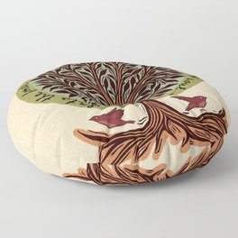 Into The Forest I Go Floor Pillow