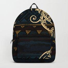 Golden Tribal Honu's Backpack
