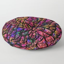 Preening Peacock Sunset Floor Pillow
