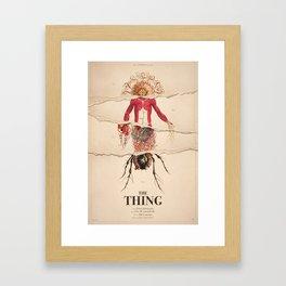 The Thing Alternative Film Poster Gerahmter Kunstdruck