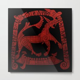 Norse runic design Metal Print