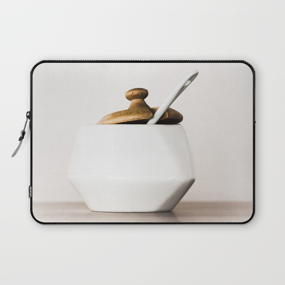 White Ceramic Sugar Cup Laptop Sleeve LSV7790108
